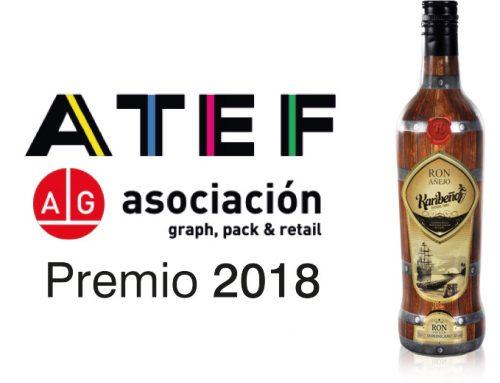Ovelar, premio ATEF 2018 por el sleeve Ron Añejo Karibeño